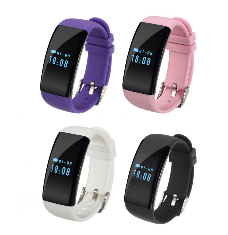 D21 Smart Watch Bracelet Heart Rate Monitor Wristband For Android IOS (Color: Purple) фото
