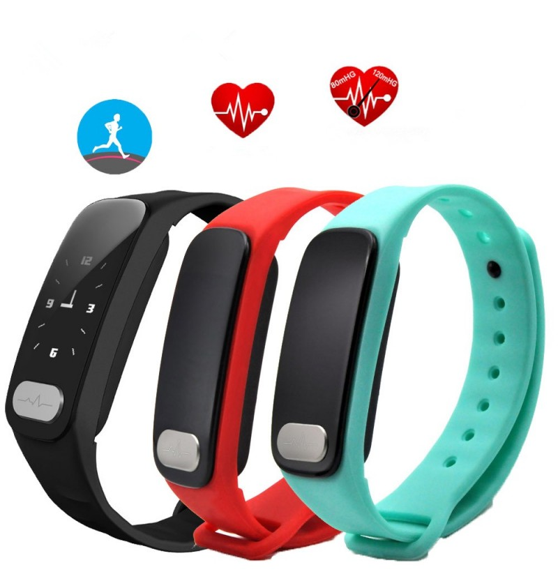 R11 0.96inch Heart Rate Blood Pressure Monitor Pedometer bluetooth Smart Bracelet For iOS Android (Color: Black) фото