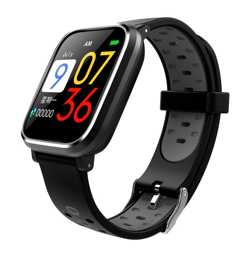 Bakeey Q58 3D Dynamic UI Display Smart Watch Heart Rate Blood Pressure Monitor Sport Watch (Color: Blue) фото