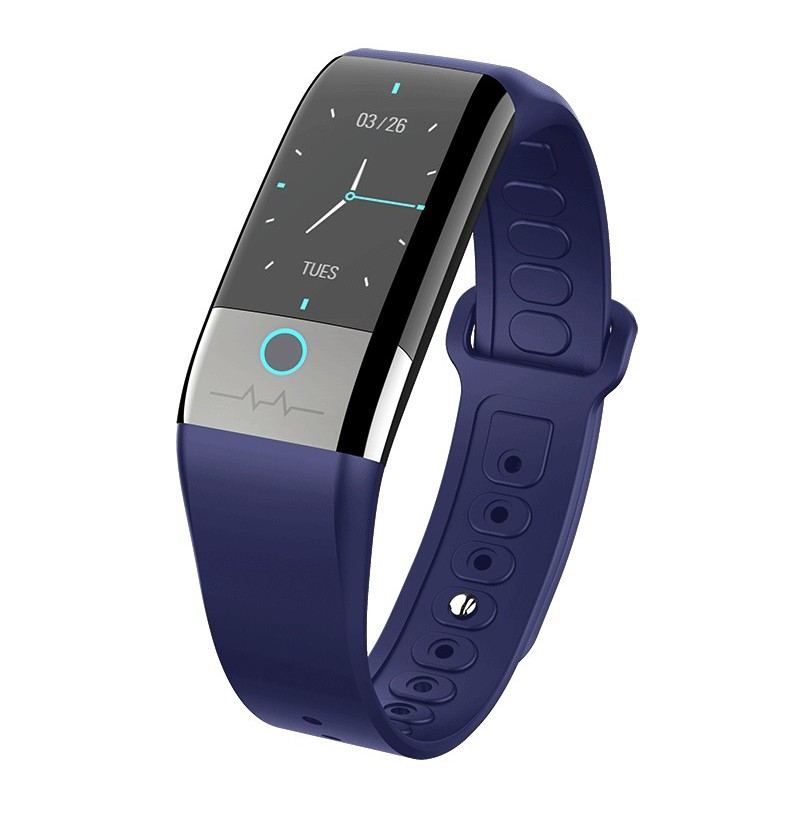 Bakeey X1 ECG+PPG HPV Measurement Hear Rate Blood Pressure Monitor Multi-sport Modes USB Charge Smart Watch (Color: Black) фото