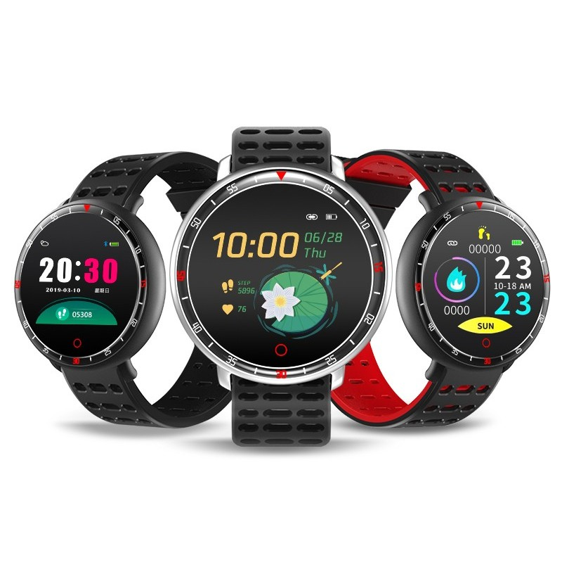 Bakeey YS16 Heart Rate Blood Pressure O2 Monitor Weather Push bluetooth Music Smart Watch (Color: Grey) фото