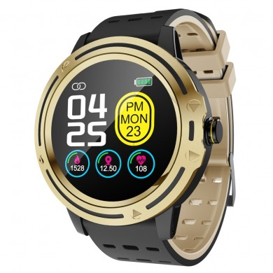 Bakeey V5s Metall Lünette Full Round Touch Dynamic Heart Rate Sportmodus Mehrsprachige Smart Watch