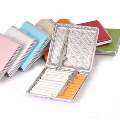 20 Cigarettes Case Classic PU Leather Cigarette Holder Smoke Fashion Storage Box