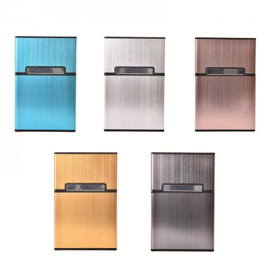 Honana NB-CB016 Light Weight Aluminum Alloy Cigarette Case 5 Colors Tobacco Smoking Storage Box