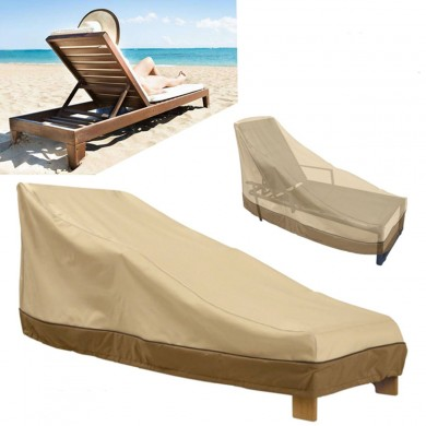 Heavy Duty al aire libre Muebles Impermeable Cubierta Garden Patio Yard Chaise Lounge Dust Rain Shelter