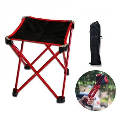Outdoor Portable Folding Chair Aluminum BBQ Beach Seat Stool Max Load 90kg Camping Picnic