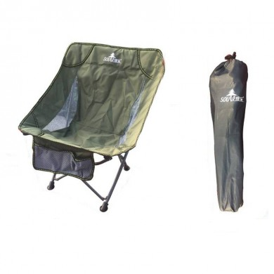 Outdoor Portable Folding Chair Camping Picnic BBQ Beach Seat Stool Max Load 90kg