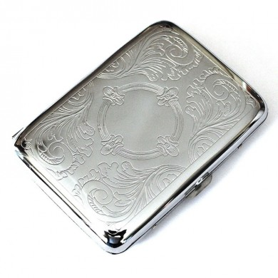 Honana NB-CB01 Steel Stainless Cigarette Case Silver Durable Double Sided Cigarette Box