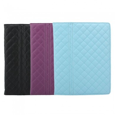 Rhombohedron Grid Pure Color Simple Design Leather Case for iPad