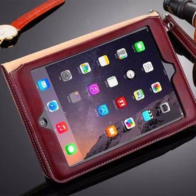 Ultra Thin Leather Shockproof Full Case Cover With Card Slot Kickstand For iPad Air 2