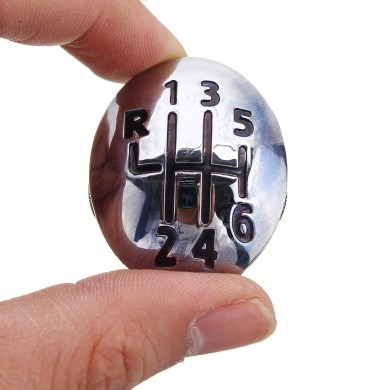 5 6 Speed Gear Shift Knob Cap Cover Insert For Renault Clio Megane Scenic Chrome