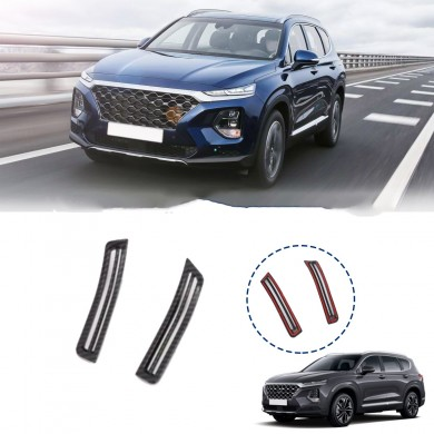 Carbon Fiber Car Interior A Pillar Air Conditioning Vent Trim Cover Sticker Accessories Styling For Hyundai Santa Fe 2019 2020