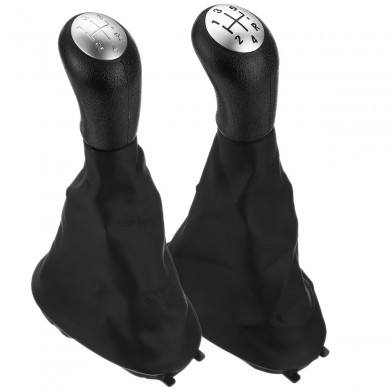 5 Speed Gear Shift Knob with Gaiter Boot Cover For Renault Megane Clio Kangoo Scenic