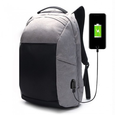 Ekphero® Men Anti Mochila para hurto Caminando Casual Multi Pocket Travel Bolsa con puerto de carga USB