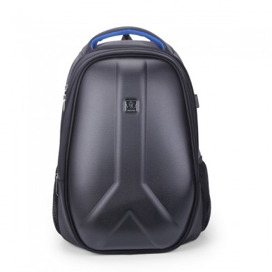 Men Hard Shell Backpack USB Carga externa Travel Bolsa Laptop Bolsa para 15.6 Pulgadas Portátiles