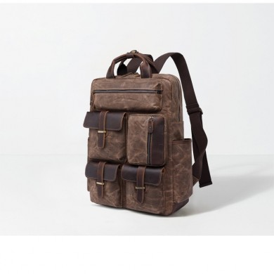 Genuine Leather Large Capacity Vintage Travel Backpack