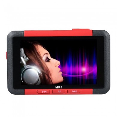 4.3 pulgadas slim lcd pantalla música reproductor 8gb mp5 con película video de la radio de fm