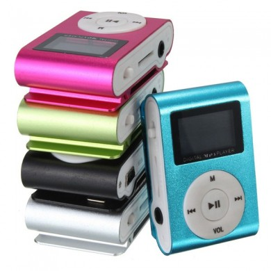 Mini USB Clip MP3 Music Media Player LCD Screen Support 32GB Micro SD TF Card