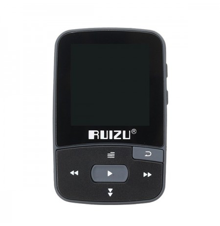 Ruizu X50 Sport Clip Bluetooth Supporto lettore musicale MP3 TF Card FM Radio Registrazione Pedometro E-book