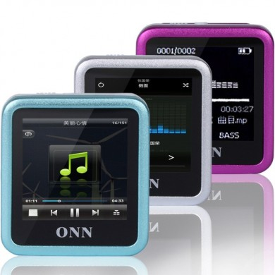 ONN Q6 8GB MP3 1.5 Inch TFT FM Recording Clip Design WMA WAV Mp3 Music Player