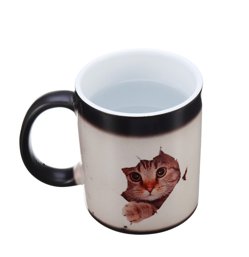350ml Cat Lover Morphing Mug Heat Sensitive Color Changing Coffee Mugs Cup Gifts фото