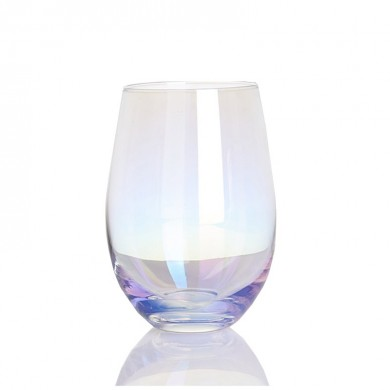Crystal Rainbow Goblet Fading Colorful Coffee Milk Cup Glasses Drinking Glassware