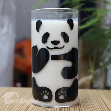 290ML Cute Panda Pattern Glass Milk Cup Coffee Cup