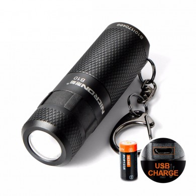 Nicron B10 XP-E2 R3 200LM 5Modes Dimming USB Rechargeable Mini Keychain EDC LED Flashlight