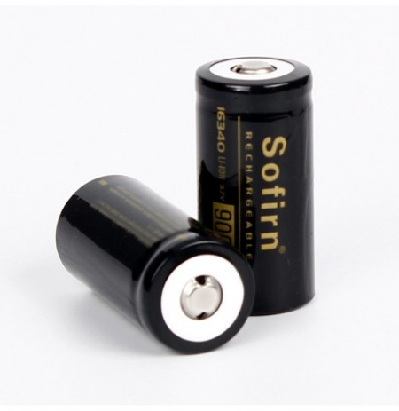 2Pcs Sofirn 16340 Battery 3.7v 900mAh Li-ion Battery Rechargeable Battery