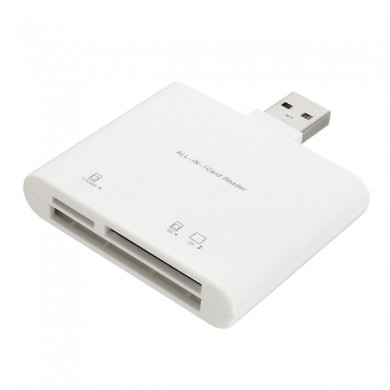 3 In 1 USB 2.0 High Speed Memory Card Reader Adapter For TF SD CF Memory Card