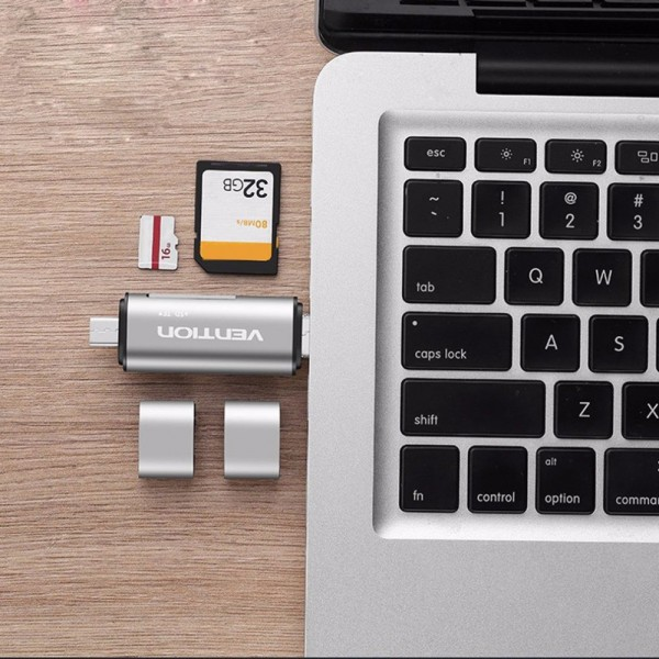Vention Multifunction Card Reader USB 2.0 Micro USB Type C Micro SD TF Memory Card Reader For Mac PC