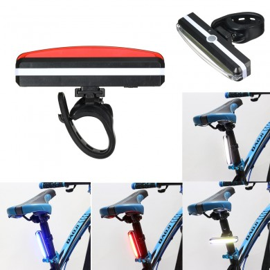 BIKIGHT USB Rechargeable Cycling Bike Tail Light Bicycle Rear Safety Warning Light