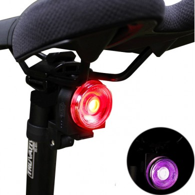 ANTUSI AO Colorful Bike Tail Light 60h Running Time 400mAh Lithium Battery USB Rechargeable 4 Modes IPX5 Waterproof Rear Light