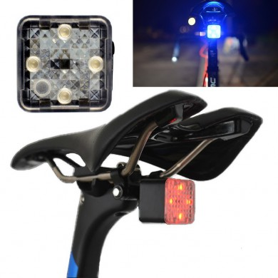 XANES STL12 Smart Light Sensor Mini Bike Taillight  4 Modes 150m Visable IP55 Waterproof USB Rechargeable 45g Only Without Safet