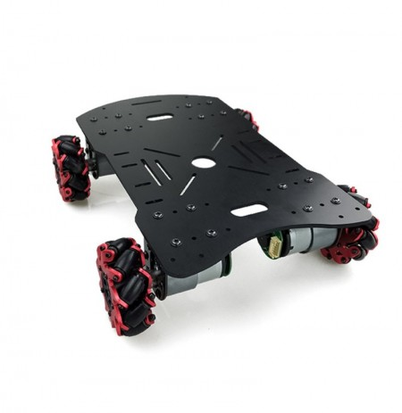 DIY 4WD Smart RC Robot Car Chassis Base With Omni Wheels TT Motor For Arduino Makeblock STM32 51