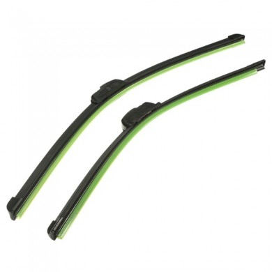 Pair 21 inch 19 inch J-Hook Car Wind Shield Wiper Blade Bracketless Black Universal