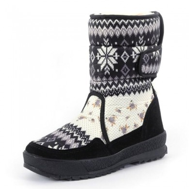 Winter Warm Plush Insole Hook Loop Casual Snow Boots