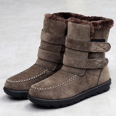 Women Snow Boots Casual Hook Loop Fur Lining Shoes