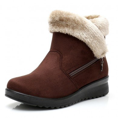 Fur Lining Warm Winter Zipper Ankle Snow Boots