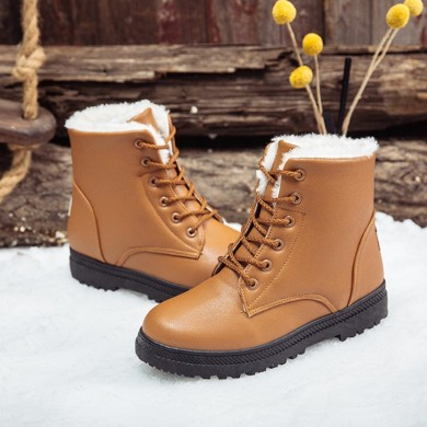 Women Casual Comfy Keep Warm Fur Lining Snow Boots