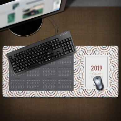 800*300*3mm the Year 2019 Calendar Large Non-slip Mouse Pad Desktop Laptop Pad Mat