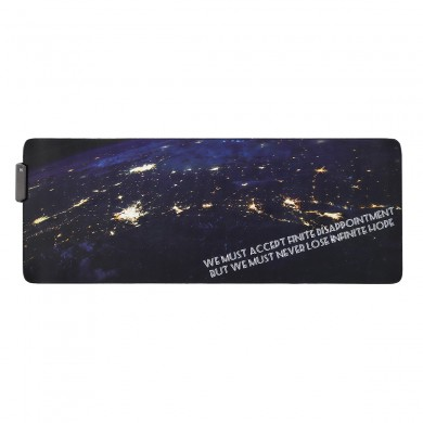 The Space USB Wired RGB Colorful Backlit LED Mouse Pad Anti-Slip Gaming Mice Table Desk Mat