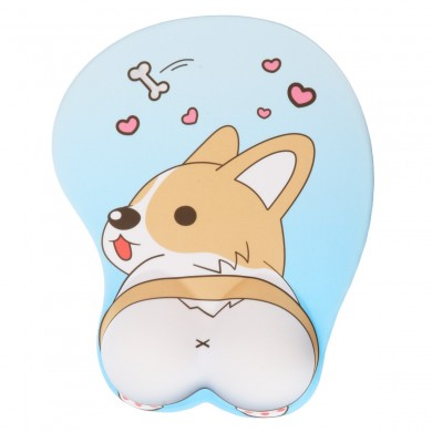 Lovely Corgi Non Slip Silica Gel Wrist Rest Mouse Pad Wrist Support Computer Ergonomic Mouse Mat Comfortable