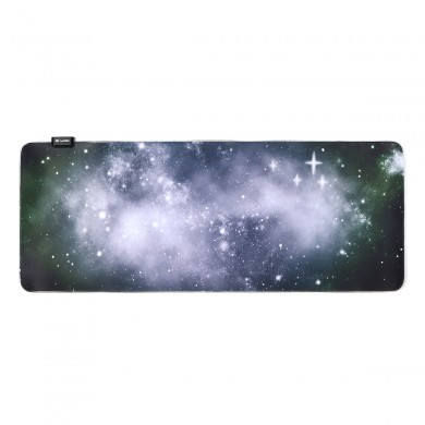 900x350x3mm RGB Colorful Backlit LED White Stars Mouse Pad Anti-Slip Gaming Mice Table Desk Mat