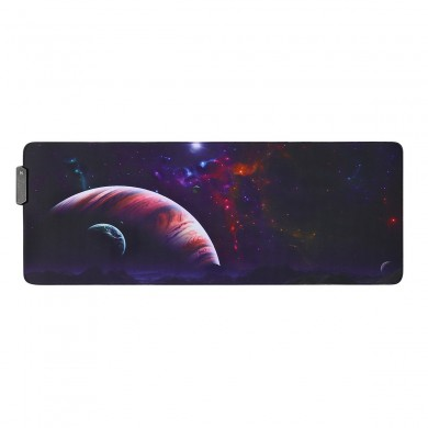 O Vast Sky USB Wired RGB Colorful Backlit LED Mouse Pad para Gaming Mouse