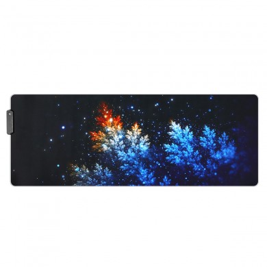 O Manguezais Madressilva USB Com Fio RGB Colorful Retroiluminado LED Mouse Pad para Gaming Mouse E-Sport