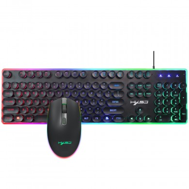 V300 104 key Backlit Wired Gaming Keyboard and 1600DPI Gaming Mouse Combo for PC Laptop