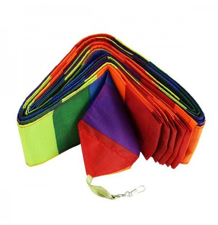 Colorful Rainbow Triangular Kite Flying Modern kite for children