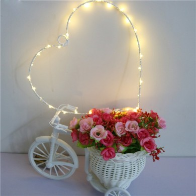 Hot Selling Hearts Letter Lamp On Wall LED Night Light Christmas Wedding Decoration Curtain Lights Christmas Decoration Fairy Ba