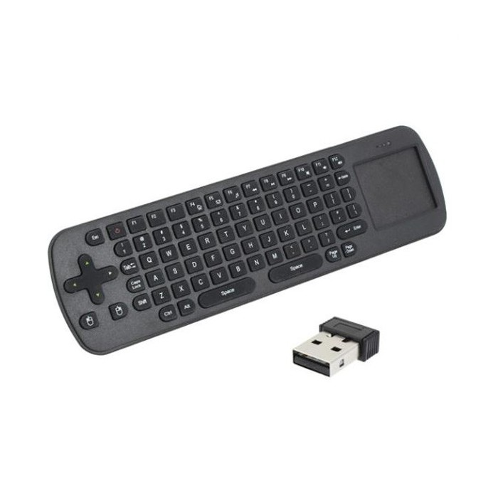 RC12 Smart Wireless 2.4GHz Mouse Handheld Keyboard Combo For Tablet PC